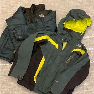 Boys North Face three in one coat